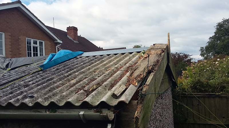 Concrete Sectional Garage Roof Repairs New Flat Roof To